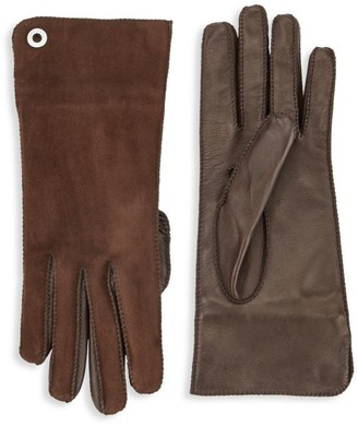 Loro Piana Guanto Jacqueline Leather & Suede Gloves