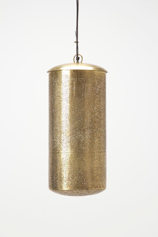 Anthropologie Clipped Brass Pendant Lamp