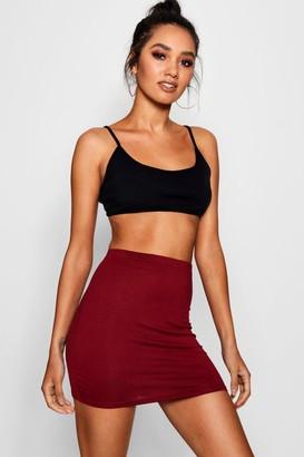 boohoo Petite Jersey Basic Mini Skirt