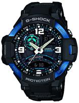 Casio Ga-1000-2ber G-shock Resin Strap Watch, Black/blue