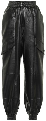 MATÉRIEL Faux leather trackpants