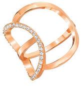 Swarovski Rose Gold Pave Crystal Ring