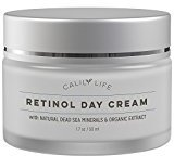 Calily Life Organic Anti-Aging Retinol Day Cream with Dead Sea Minerals, 1.7 Oz. - Non-Greasy, Fast Absorbing - Anti-Wrinkle, Hydrates, Smooths, Regenerates and Strengthens