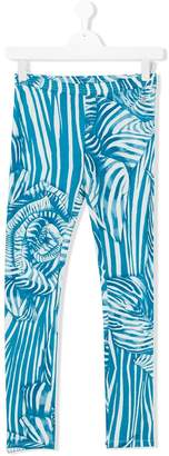 Roberto Cavalli Junior teen zebra print leggings