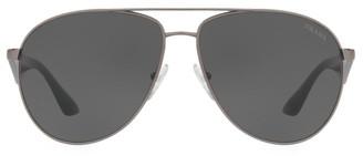 Prada 60MM Browline Aviator Sunglasses