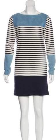 MiH Jeans Stripe Bateau Neck Dress