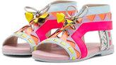 Sophia Webster Riko Tie-Front Sandal, Pink/Multi, Toddler/Youth
