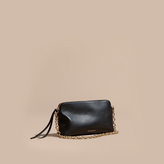 Burberry Grainy Leather Clutch Bag, Black