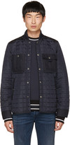 Diesel Black Gold Navy Quilted Jacket