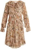 Zimmermann Painted Heart floral-print ruffled silk dress