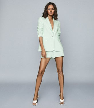 Reiss LANA Textured Tailored Blazer Green