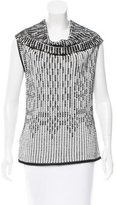 Roland Mouret Woven Cowl Neck Top w/ Tags