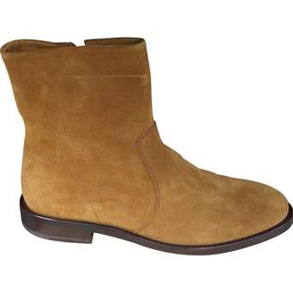 A.P.C. Camel Leather Boots