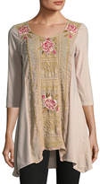 Johnny Was Leith Embroidered Panel Tunic