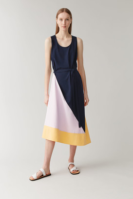 Cos Sleeveless Colour-Block Dress