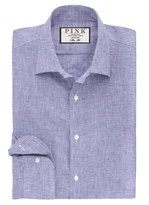 Thomas Pink Riley Texture Slim Fit Button Cuff Shirt