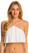 Michael Kors Swimwear Chain Solids Cascading Halter Bikini Bra Top 8142802