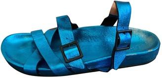 Burberry Metallic Leather Sandals