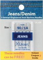 Tacony Corporation Klasse Jeans/Denim Machine Needles, 90/14 5-Pack