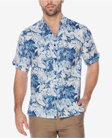 Cubavera Men's Linen Tropical-Print Shirt