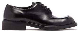 Prada Lace Up Leather Derby Shoes - Mens - Black