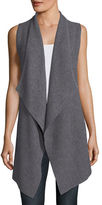 Neiman Marcus Variegated Ribbed Cashmere Vest