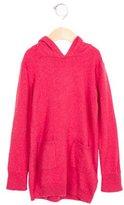 Burberry Girls' Cashmere Nova Check-Trimmed Sweater