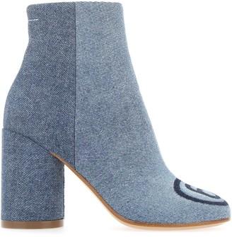 MM6 MAISON MARGIELA Shadow Denim Ankle Boots