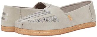 Toms Alpargata Leather Wrap (Cobblestone Suede) Women's Shoes