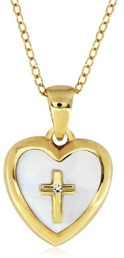 Rhona Sutton Little Star Children's Mother of Pearl Locket in 14K Gold Plated Sterling Silver