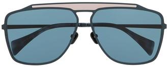 Yohji Yamamoto Squared Aviator Sunglasses