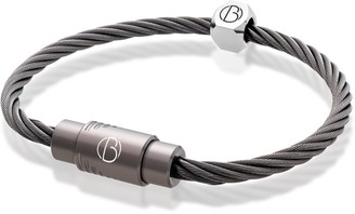 Bailey Of Sheffield Cable Graphite Stainless Steel Bracelet