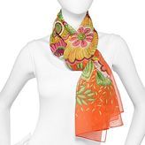 JCPenney Sheer Floral Print Scarf
