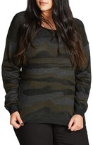 City Chic Camo Fever Sweater (Plus Size)