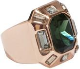 Vince Camuto Bezel Set Faceted Crystal Cocktail Ring - Size 7