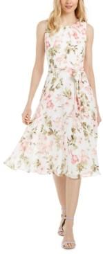 Jessica Howard Petite Floral Chiffon Midi Dress