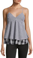 Romeo & Juliet Couture Layered Gingham Tank Top