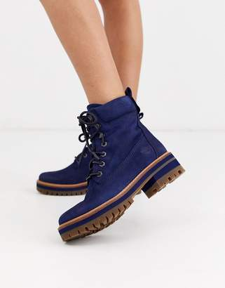 Timberland Courmayeur Valley leather ankle boots in navy
