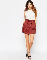 Asos Mini Skirt with Belted Waist and Pocket Detail