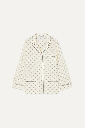 Valentino Printed Silk Crepe De Chine Shirt - Ivory