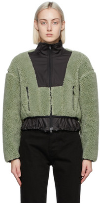 3.1 Phillip Lim Green Cropped Sherpa Bonded Jacket