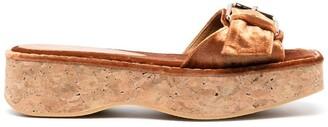 Paloma Barceló Corrente cork-sole corduroy-effect sandals