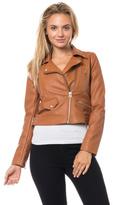 Love Tree Cognac Leather Jacket
