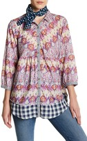 Aratta 3/4 Length Sleeve Printed Blouse