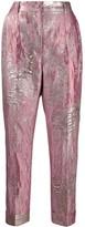 Dolce & Gabbana metallic jacquard tailored trousers