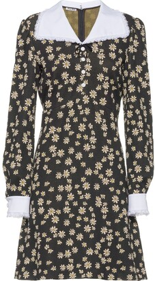 Miu Miu Floral Long-Sleeved Dress