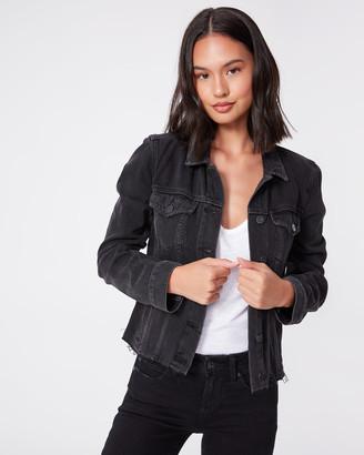 Paige Rowan Jacket Side Zips-Black Nightingale