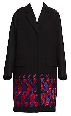 Women's Embroidered Overcoat by Women's Embroidered Overcoat