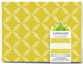 Mica Mountain Paper Notecard Set, Lemon - Lemon
