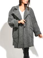 Everest Gray Wool-Blend Swing Coat - Plus Too
